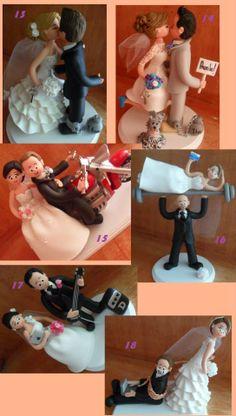 Novios, Figuras Pastel De Boda, Cake Toppers Personalizados - $ 360.00 en MercadoLibre