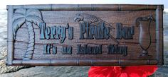 Personalized Bar Signs Custom Pub Plaque Bar Decor Pirate Tiki Bar Sign Personalized Home bar Wooden Pub Sign Sign lake house decor Beach - Unique Gifts Of Wood