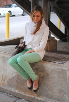Spring 2012 Trends:  Pastel Jeans, perfect for a fashionable St. Patrick's Day outfit, from See Jane.