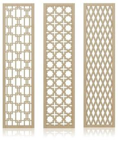 Crestview Doors decorative, midcentury-style wall screens / room dividers #home #decor