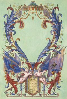 Ottmar Elliger, III (1666 - 1735) — Cartouche,1729-1735 (506x745)