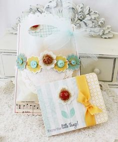 Must do the stitched flowers for cards & gift bags etc.  Way cute