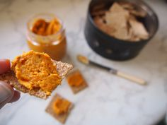 Carrot & Butternut Hummus #justeatrealfood #hungrycub