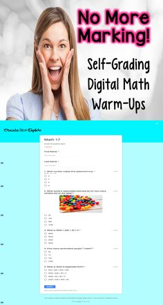 No More Grading! Self-Grading and Self-Checking Math Warm-Ups! These are such a time saver! They give students immediate feedback and mark themselves. Reading Resources, Math Resources, Classroom Resources, Classroom Freebies, Google Classroom, Creative Teaching, Teaching Ideas, Teaching Math, First Grade Teachers