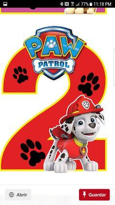 Paw Patrol Cake, Paw Patrol Party, Paw Patrol Pups, 2nd Birthday Parties, Baby Birthday, Birthday Shirts, Kids Party Themes, Birthday Party Decorations, Paw Patrol Birthday Theme