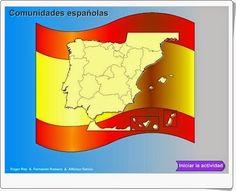 """Las """"Comunidades Autónomas Españolas"""" de Genmagic es un sencillo y bonito juego en el que hay que situar el nombre de cada Comunidad en el lugar del mapa correspondiente."""