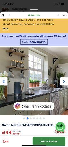 Farm Cottage, Small Appliances, Kettle, Kitchens, Outdoor Decor, Home Decor, Tea Pot, Decoration Home, Room Decor
