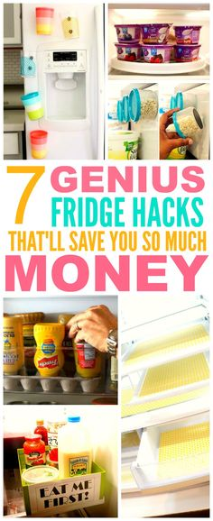 These 7 fridge hacks from the experts are THE BEST! I'm so glad I found these GREAT TIPS! Now I'll have less messes to clean! I'm SO pinning for later!