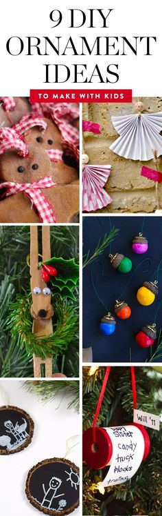 9 Adorable DIY Ornaments Your Kids Can Make Themselves via @PureWow