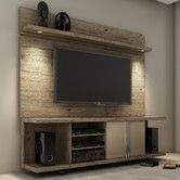 BASEMENT - work-around for expensive light install in ceiling. Found it at AllModern - Carnegie TV Stand