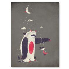 Wall Art, Sloth, Yeti, Monster, Home Decor, Art Print, Poster, 18 x 24