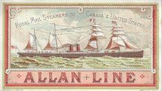 Victorian Trade Card | Allan Line Steamship | eBay