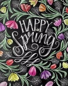 Chalk Board Springtime
