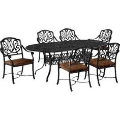 Blossom 7 Piece Dining Set in Charcoal