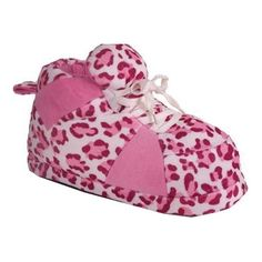 8ef70cb16 Children s Happy Feet Snooki Sneaker Boot Slipper - Pink Leopard Print  Slippers