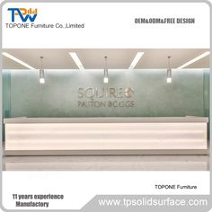 Hotel led lighted front reception desk service counter factory