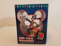Disney Goofy Carrying Basket Tree-rific Treasures Hanging Ornament Enesco #Enesco