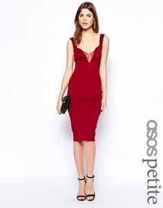 ASOS PETITE Sweetheart Plunge Dress