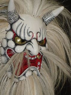 'Daikijin (Great Devil God)' traditional Japanese Noh Mask from the Inoue Corporation