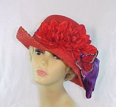 Beautiful Butterfly Red Hat - Christy Creations only $39.95 at http://www.myredhatstore.com