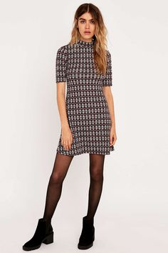 Urban Outfitters Jacquard Turtleneck Dress