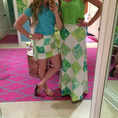 Harper Maxi Skirt + January Skort in Lioness Patch @Lilly Pulitzer