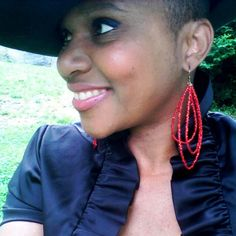 Actress China L. Colston Earrings...2013 Harlem