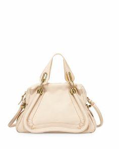 L0BCT Chloe Paraty Shopper Bag, Husky White