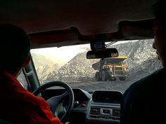 January 2017. Touring China's largest open air coal mine. _________________________________ That's the president of the mine in the driver's seat and my dad next to him. His company is conducting research on how to make coal a cleaner energy resource.