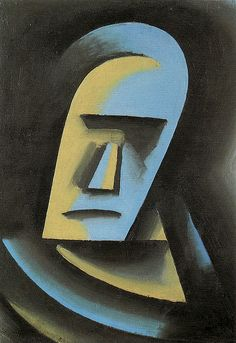 Josef Capek, Head, 1915. Oil on canvas, 42 x 30 cm.