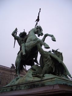 St George and the Dragon, outside the St George Brewery in Berlin.