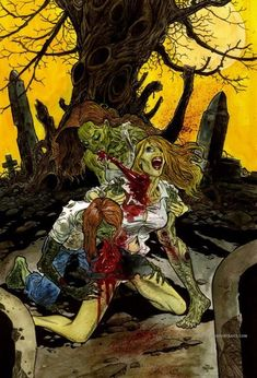 """Greetings all you lovers of Zombie Artwork ! For this image, I say """"kind of"""" a blast from the past, as I have posted this illustration before. Zombie Art, Rob Zombie, Gore Aesthetic, Walking Dead Zombies, Homemade Halloween, Weird Creatures, Halloween Coloring, Halloween Town, Dark Art"""