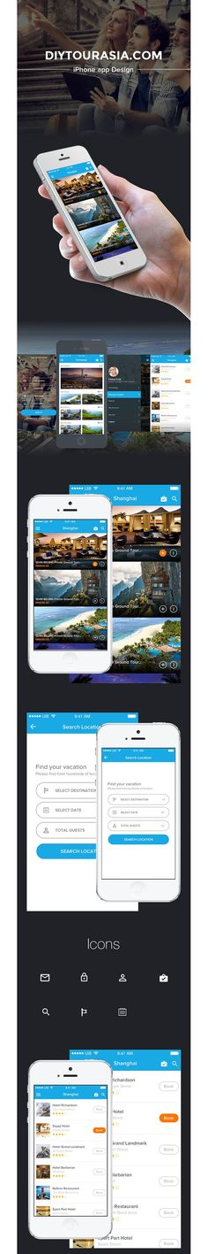Travelasia App Design