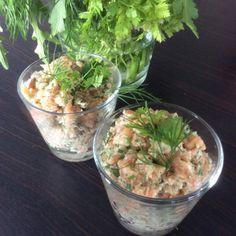 tartare de saumon aux herbes et au mascarpone