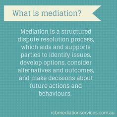 What is #mediation?