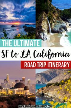 Planning a road trip between San Francisco and Los Angeles? We have uncovered some of the hidden gems along the way. Make your road trip between San Francisco and Los Angeles special with these stops along the way. California road trip | visit California | SF to LA | California road trip stops | San Francisco | Santa Cruz | San Francisco | Monterey | Carmel-by-the-Sea | Big Sur | Bixby Bridge | Heasrt Castle | Cambria | Pismo Beach | San Luis Obispo | Solvang | Los Angeles Visit California, California Coast, California Travel, Bixby Bridge, Road Trip Destinations, Pismo Beach, Travel Guides, Travel Tips, Travel Info