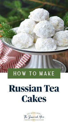 Bakery Recipes, Tea Recipes, Sweet Recipes, Cookie Recipes, Dessert Recipes, Desserts, Easy Holiday Recipes, Holiday Snacks, Russian Tea Cake