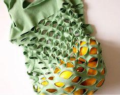 bolsa de franela cortada