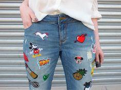 Fashion Love: DIY PATCH JEANS & ADIDAS SUPERSTARS