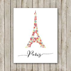 Eiffel Tower Printable Instant Download Paris by MossAndTwigPrints, $5.00