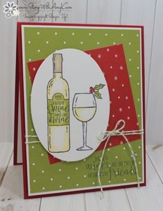 Fiskars Aged To Perfection Clear Stamp Set Wine Grapes Cheese Phrases Birthday