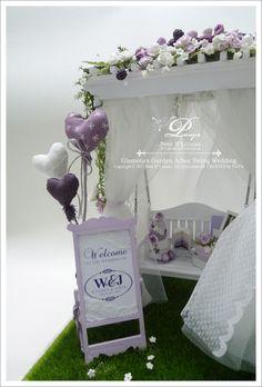 Dollhouse Miniature: Glamour Garden Arbor Swing Wedding