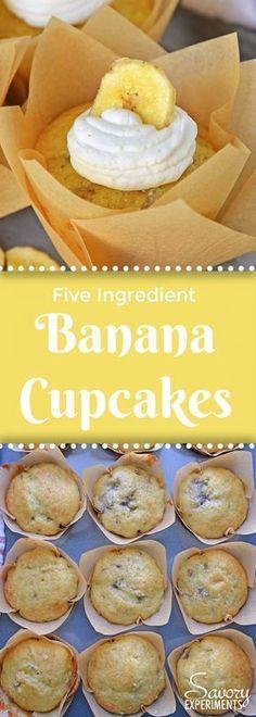 Five Ingredient Banana Cupcakes