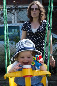 Having fun in the swing with Mam!