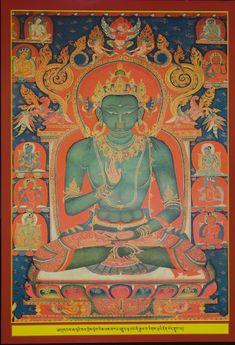 Amoghasiddhi Tibetan Art, Tibetan Buddhism, Buddhist Art, Thangka Painting, Buddha Painting, Oriental, Statue, Nepal, Artwork