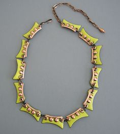 Copper and enamel necklace by Matisse Renoir (vintage)