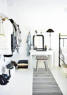 wardrobe space. white.