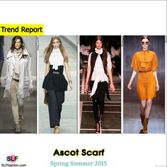 Ascot Scarf Trend for Spring Summer 2015. Greg Lauren, Chanel, Givenchy, and Gucci #Spring2015 #SS15 #Fashion