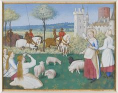 St. Margaret and Olibrius, the book of hours of Étienne Chevalier, c. 1450-1460  Look, normal ponytails!