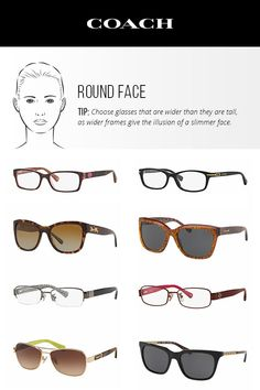 4f348f30d8fd Choose taller frames to help slim a round face shape. Round Face Glasses,  Eyeglasses